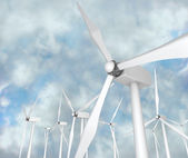 Wind Turbines - Alternative Energy — Stock Photo