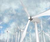 Wind Turbines - Alternative Energy — Stock Photo