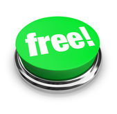 Free - Green Button — Stock Photo