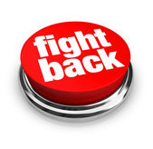 Fight Back - Red Button — Stock Photo