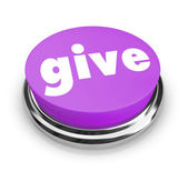 Give - Charity Button — Stock Photo
