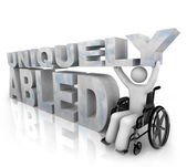 Not Disabled - Uniquely Abled — Stock Photo