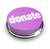 Donate - Purple Button — Stock Photo