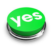 Yes - Green Button — Stock Photo