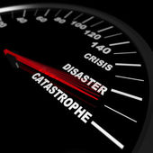 Speeding Toward a Catastrophe — Stock Photo