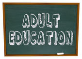 Adult Education - Chalkboard — Stock Photo