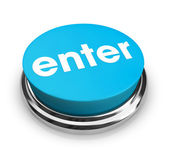 Enter - Blue Button — Stock Photo