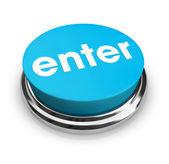 Entrez - blue bouton — Photo