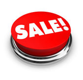 Sale - Red Button — Stock Photo