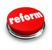 Reform - Red Button — Stock Photo