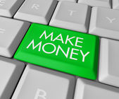 Make Money Key on Computer Keyboard — Stock Photo