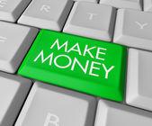 Make Money Key on Computer Keyboard — Stock Photo