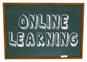 Online nauki - tablica — Zdjęcie stockowe