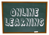 E-lärande - svarta tavlan — Stockfoto