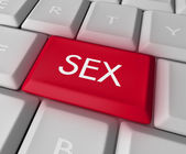 Sex Key on Computer Keyboard — Stock Photo