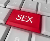 Sex Key on Computer Keyboard — Stock Photo