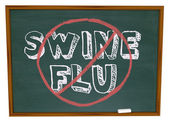 No Swine Flu - Chalkboard — Stock Photo