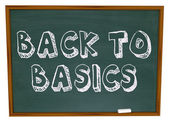 Back to Basics - Chalkboard — Stock Photo