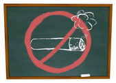 No Smoking Symbol on Chalkboard — Stock Photo