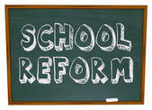 реформа школы - доске — Стоковое фото