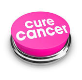 Cure Cancer - Pink Button — Stock Photo