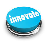 Innovate - Blue Button — Stock Photo