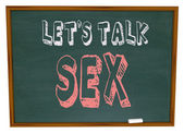 Let's Talk Sex - Chalkboard — Stock Photo