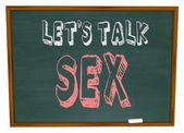 Let's Talk Sex - Chalkboard — Stock Photo