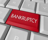 Bankruptcy Computer Key — Stock Photo