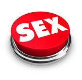 Sex - Red Button — Stock Photo