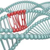 Cancer Cause Hiding in DNA Strand — Stock Photo
