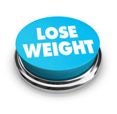 Lose Weight - Blue Button — Stock Photo