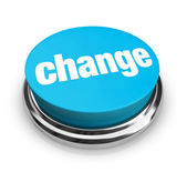 Change - Blue Button — Stock Photo