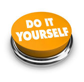 Do it Yourself - Orange Button — Stock Photo