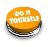 Do it Yourself - Orange Button — Stock Photo
