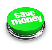 Save Money - Green Button — 图库照片