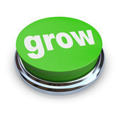 Grow Button - Green — Stock Photo