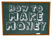 How to Make Money - Chalkboard — Стоковое фото