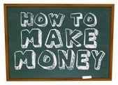 Cómo ganar dinero - pizarra — Foto de Stock