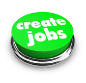 Create Jobs Button — Stock Photo