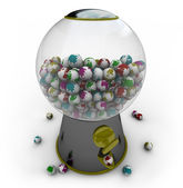 Gumball Machine Filled with Small Earths — Stock Photo