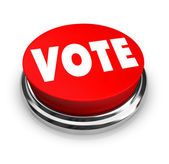 Vote - Red Button — Stock Photo