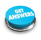 Get Answers Button — Stock Photo