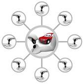 Handing Car Key - Ownership Chain — Stock Photo