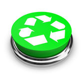 Recycle Symbol - Green Button — Stock Photo