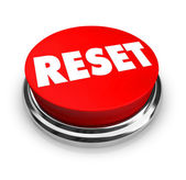 Reset - Red Button — Stock Photo