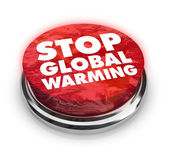 Stop Global Warming - Button — Stock Photo