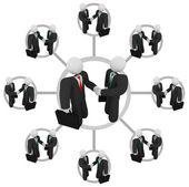 Poignée de main - réseau d'affaires — Photo