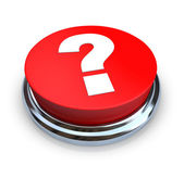 Question Mark Button - Red — Stock Photo