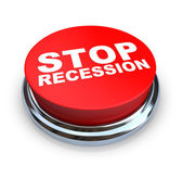 Stop Recession - Button — Stock Photo